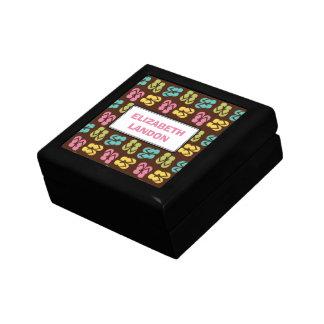 Personalizado del modelo de la sandalia del flip-f caja de recuerdo