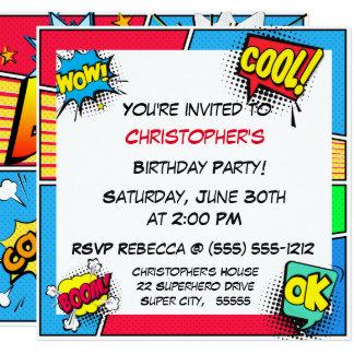 Personalizado del muchacho del cumpleaños del invitación 13,3 cm x 13,3cm