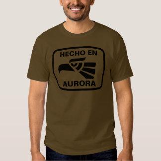 Personalizado del personalizado de la aurora del camisetas