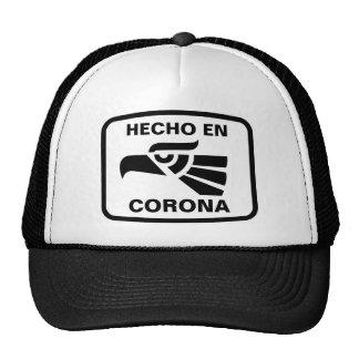 Personalizado del personalizado de la corona del e gorras de camionero