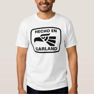 Personalizado del personalizado de la guirnalda camiseta