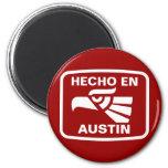 Personalizado del personalizado del en Austin de H Imán Redondo 5 Cm
