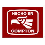 Personalizado del personalizado del en Compton de Postal