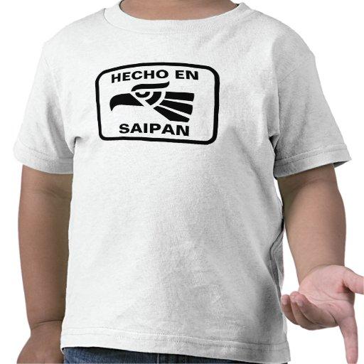 Personalizado del personalizado del en Saipán de H Camisetas