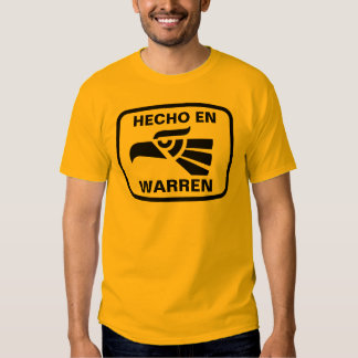 Personalizado del personalizado del en Warren de Camiseta