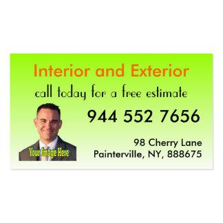 Personalizado del pintor de la pintura tarjetas de visita
