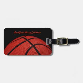Personalizado del primer del baloncesto etiquetas para maletas