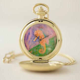 Personalizado del Seahorse del reloj de bolsillo
