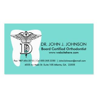 Personalizado del símbolo de la odontología tarjetas de visita