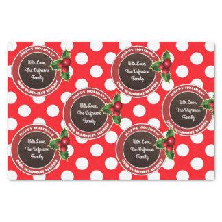 Personalizado, diversión y navidad festivo papel de seda