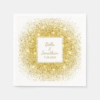 Personalizado elegante romántico del boda del servilletas desechables