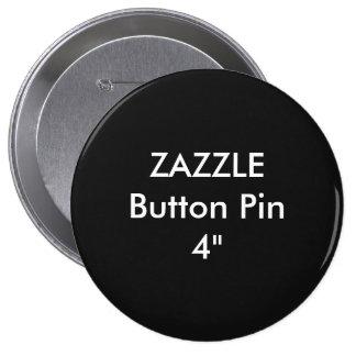 """Personalizado en blanco 4"""" de Zazzle NEGRO enorme Chapa Redonda De 10 Cm"""