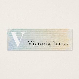 Personalizado en colores pastel del vintage de la tarjeta de visita mini