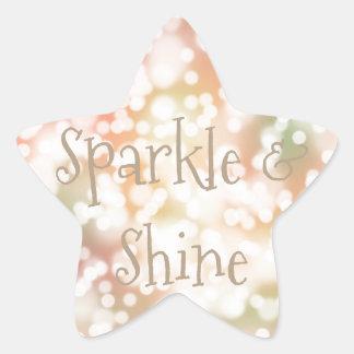 Personalizado en colores pastel en colores pastel pegatina en forma de estrella