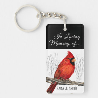 Personalizado en llavero cariñoso del cardenal de