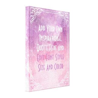 Personalizado enmarcado rosa su texto aquí lienzo