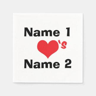 Personalizado estamos en amor servilletas de papel