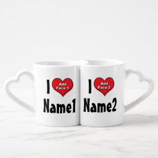 Personalizado estamos en amor set de tazas de café