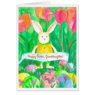 Personalizado feliz de la nieta de Pascua Tarjeta De Felicitación