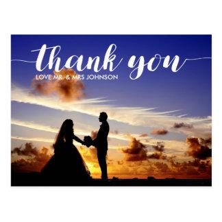 Personalizado gracias nota de la postal del boda