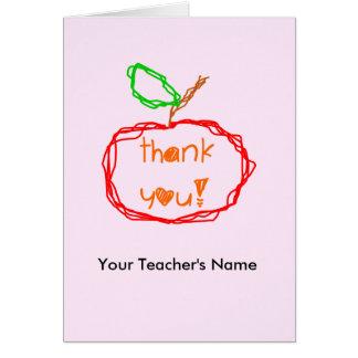 Personalizado gracias tarjeta de profesor