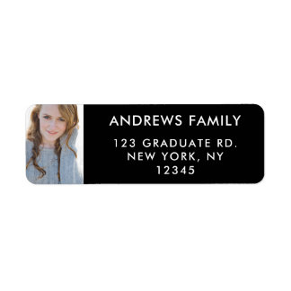 Personalizado graduado de la foto de las etiquetas