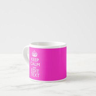 Personalizado guarde la calma y su decoración del taza espresso