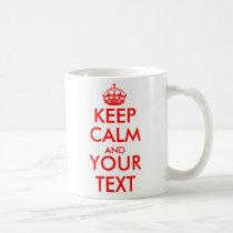 Personalizado guarde la calma y sus tazas de café