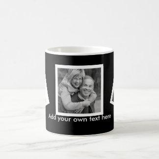 Personalizado inclinado de las fotos personalizado taza básica blanca
