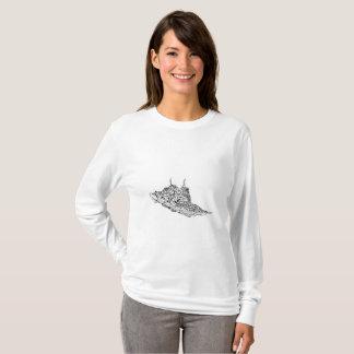 Personalizado largo básico de la camiseta de la