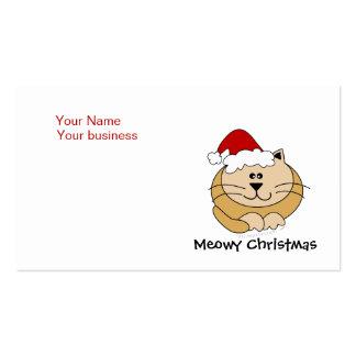 Personalizado lindo del gato del dibujo animado de tarjetas de visita