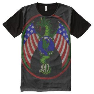 Personalizado militar fresco del escudo del camiseta con estampado integral