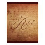 Personalizado musical de la partitura de la antigü invitaciones personales