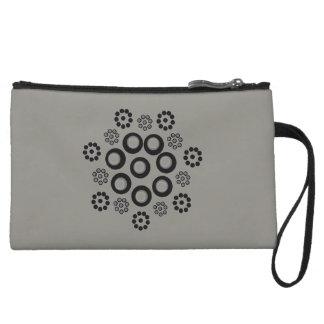 Personalizado negro gris del bolso de embrague