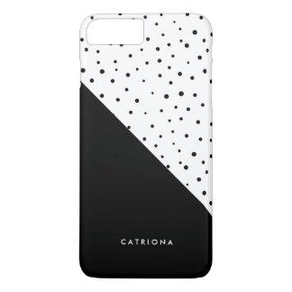 Personalizado negro y blanco de Patten Abtract de Funda iPhone 7 Plus