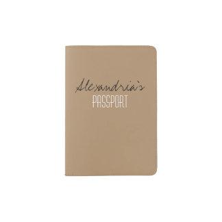 Personalizado neutral helado del color sólido del porta pasaportes