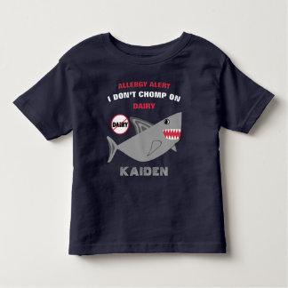 Personalizado no chomp en la camisa de la alergia