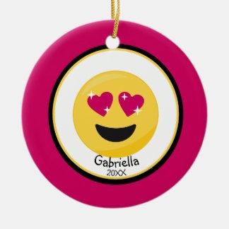 Personalizado oiga el ornamento de Emoji del amor
