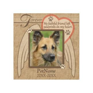 Personalizado para siempre amado de la condolencia impresión en madera