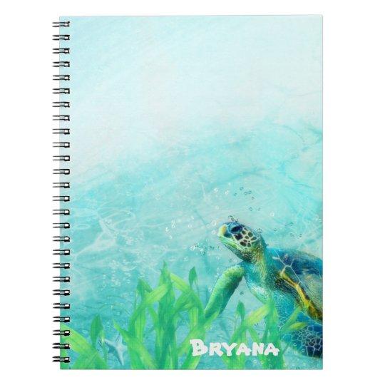 Personalizado personalizado arte de la playa del cuaderno