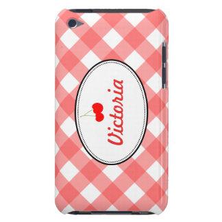 Personalizado rojo de la cereza dulce del modelo d iPod touch Case-Mate carcasa