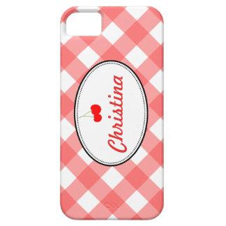 Personalizado rojo de la cereza dulce del modelo funda para iPhone SE/5/5s