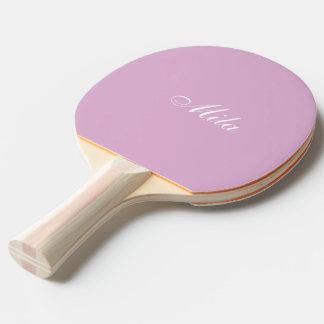 Personalizado rosado del angora pala de ping pong