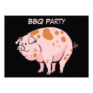 Personalizado rosado manchado divertido del fiesta