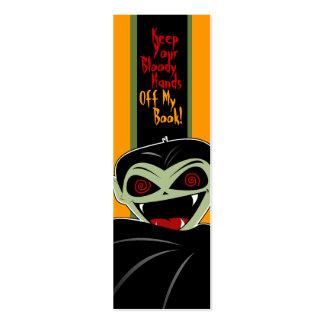 Personalizado sangriento de Halloween del vampiro Tarjetas De Visita Mini