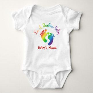 Personalizado soy un mono del bebé del arco iris body para bebé