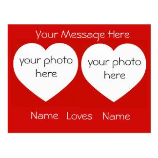 Personalizado te amo con la postal de las fotos