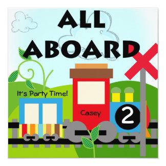 Personalizado todo a bordo de invitaciones del invitación 13,3 cm x 13,3cm
