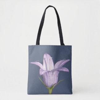 Personalizado todo encima - imprima el bellflower bolsa de tela