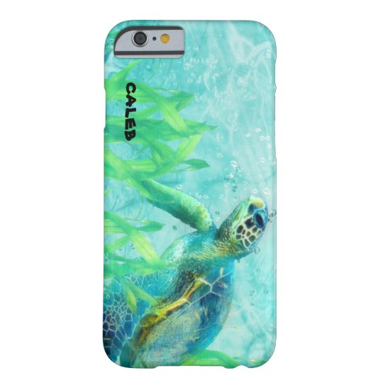 Personalizado tropical del arte de la playa del funda barely there iPhone 6